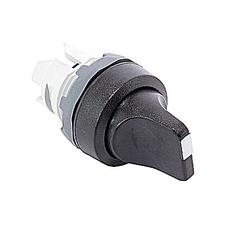 22mm Modular - Selector Switch, 3 Position Knob, Black, Maintain