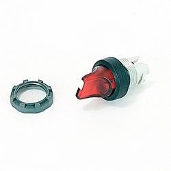22mm Modular - Illum Selector, 3 Position Knob, A-B-C, Red, BP