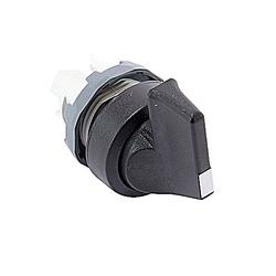 22mm Modular - Selector Switch, 3 Position Long, A-B-C, Black, BP