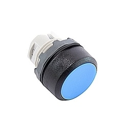 22mm modulaire - boutons poussoirs MOM, fleur bleu