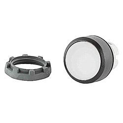 22mm modulaire - Illum bouton poussoir MOM, Flush, lumineux blanc