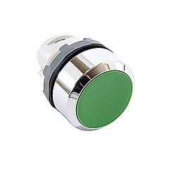 22mm Modular - Pushbuttons MOM, Flush, Chrome Bezel Green