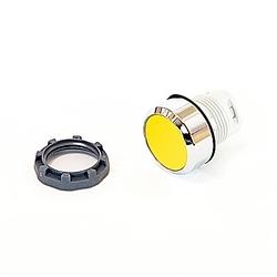 22mm Modular - Pushbuttons MOM, Flush, Chrome Bezel Yellow