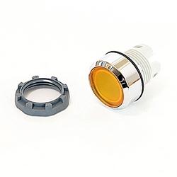 22mm Modular - Illum Pushbutton MOM, Flush, Illuminated, Chrome Bezel Yellow