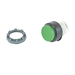 22mm Modular - Pushbuttons MOM, Extended Green