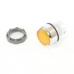 22mm modulaire - Illum bouton poussoir MOM, étendu, jaune de Chrome lunette
