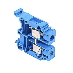 Terminal Block, Screw 22-8AWG, 600V, 50A, M 10/10, Blue