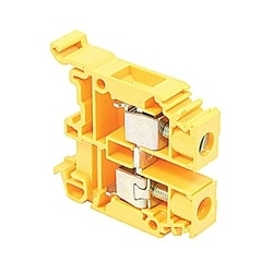 Terminal Block, Screw 22-8AWG, 600V, 50A, M 10/10, Orange