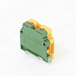 Ground Terminal, Single 16mm Wide, Screw Terminal Green