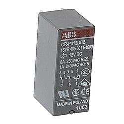 Relay, 2 C/O Contacts, 250V, 8A, Control Voltage: 12 V DC