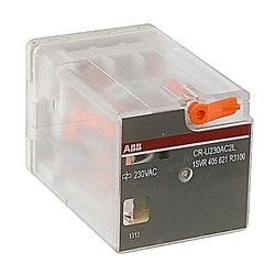 Interface relais avec LED 2 c/o Contacts 250V/10 a 230 V AC bobine