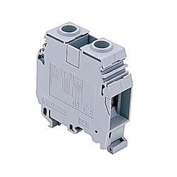 2 Cond Terminal Block 600V 150A 16-0AWG Spring Clamp Grey