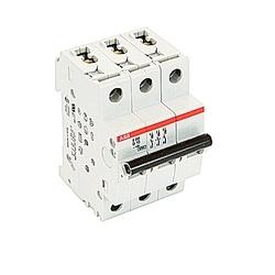 Mini Breaker, S200, 480Y/277 V AC, Trip D, 3 Pole, 10A