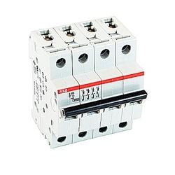 Mini Breaker, S200, 480Y/277 V AC, Trip D, 4 Pole, 16A