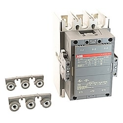 3 pole, 500 amp, non-reversing across the line contactor with 110-120V AC coil and 2 NO and 2 NC auxiliary contacts