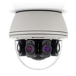 12 180º MP jour/nuit caméra, 8192 x 1536, 4x5,3 MP objectif mm, distance de mise au point, objectif P-Iris, Surface mount, intérieur/extérieur, IP66, IK-10, 15 V DC/24 V AC/PoE, radiateur/ventilateur