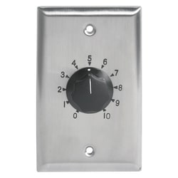 100 W attenuator, 3 dB steps, SG stainless wall plate