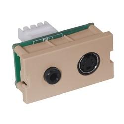 iStation Module, S-Video, 3.5 MM StereoJack, 110 Termination, 1-Unit, Almond