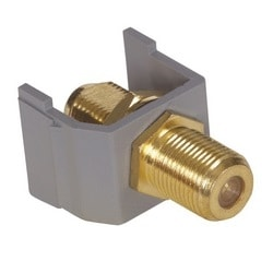 F Coax, Snap-Fit, 3GHz, Gold, OfficeWhite