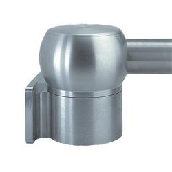 Joint de mur, Horizontal, taille/Dims : correspond à 60,3 mm Tube, matériau/finition : SS Type 304