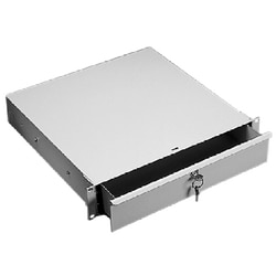 Drawer/ Compartment, Rack Mtg, Size/Dims: 1Ux19.00, Material/Finish: Steel/LtGray