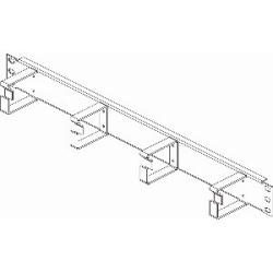 "19"" CABLE MGMT PANEL 2U       4 METAL RINGS  H88XD76MM      BLACK - 1MM STEEL"
