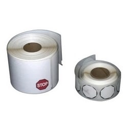 """EasyLobby, Credentials, Visitor Management, LABEL, 12-HOUR TIME EXPIRING, 2 1/4"""" X 4"""", ADHESIVE BADGE, 250 PER ROLL, 1 ROLL PER BOX, DYMO 30911"""