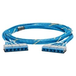 QuickNet Cable Assembly, Cat 6, CMR, Blue UTP Cable, Cassette to Cassette, 27ft