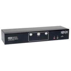2-Port Dual Monitor DVI KVM Switch, TAA, GSA with Audio and USB 2.0 Hub, Cables included