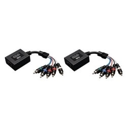 Component Video with Stereo Audio over Cat5/Cat6 Extender Kit, In-Line Transmitter and Receiver, Up to 700-ft.