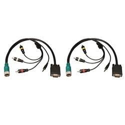 Tripp Lite Pull facile Type A connecteur VGA M/M, 3,5 mm, RCA Audio, vidéo Comp