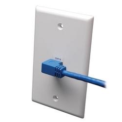 CAT6 Gigabit moulés câble Patch (Angle droit RJ45 M RJ45 m) - bleu, 5 pi.