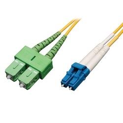 Câble de raccordement de fibre monomode duplex 8,3/125 (LC à SC/APC), 3M (10 pi).
