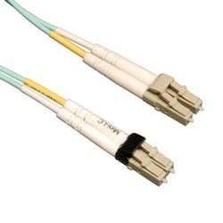 10Go Duplex Multimode 50/125 OM3 LSZH Fibre Patch Cable (Mini-LC / LC) - Aqua, 5M (16 pi).