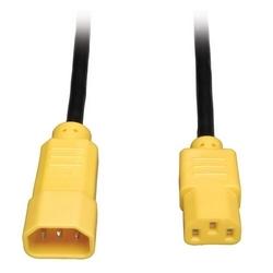 Standard sur l'ordinateur le cordon, 10 a, 18AWG (IEC-320-C14 à IEC-320-C13, Yellow bouchons), 4 pi.