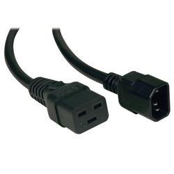 Rallonge électrique standard, 10 a, 16AWG (IEC-320-C19 à IEC-320-C14), 6-pi.