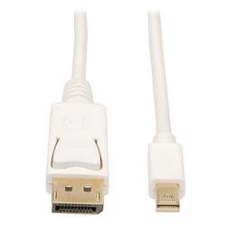 Mini DisplayPort vers DisplayPort 4K @ 60 Hz adaptateur (M/M), 4096 x 2160 (4 K x 2 K) à 60 Hz, blanc, 6 pi.