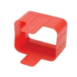 Plug-lock Inserts keep C20 power cords solidly connected to C19 outlets, RED color, Package of 100