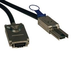 Câble externe de SAS, 4 voies - (SFF-8088) mini SAS à 4xInfiniband (SFF-8470), 3M (10 pi).