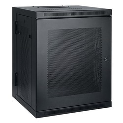 Tripp Lite 15U Low-Profile Wall-Mount Rack Enclosure Cabinet, Double Hinge, Removable Side Panels, 30H x 24W x 22D