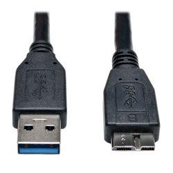 Câble de périphérique USB 3 SuperSpeed (A Micro-b M/M) noir, 1 pi.