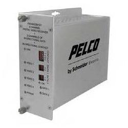 4-channel 10-bit Digital Video Multiplexer 2 Data Bi-directional and 1 Contact Closure Bi-directional Transmitter Multimode ST Connector