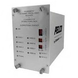 8 10-bit vidéo numérique multiplexeur 2 données bidirectionnel, 1 Contact fermeture bidirectionnelle TX ST monomode connecteur de canal