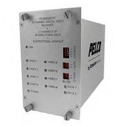 8 Channel 10-bit Digital Video Multiplexer 2 Data Bi-Directional, 1 Contact Closure Bi-Directional TX Single-mode ST Connector