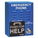 "ADA Compliant Handsfree Emergency Phone with 5 Dialer & Announcer, Blue with ""Emergency Phone"" Verbiage, Surface Mount Only (4 in. x 5.25 in. x 2 in.)"