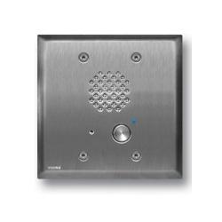 Acier inoxydable interphone avec déconnexion automatique et LED bleue, Ras se monte dans une boîte de Double commande
