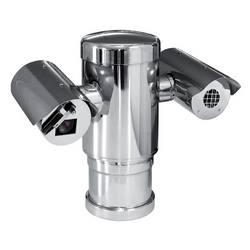 MAXIMUS MPXT Double Vision PTZ 24 V AC, caméra jour/nuit 36 x Zoom optique, NTSC et caméra thermique 35 mm, 25-30 Hz, 320 x 240, avec boîtier d'essuie-glace de caméra Visible