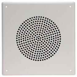 """Pour 8"""" O.D. haut-parleur, carré, résistant au vandalisme, Stud-Mont, acier inoxydable, blanc poudre finition Coat"""