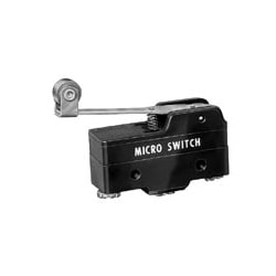 Standard Basic Switch, Single Pole Double Throw Circuitry, 15 A At 125 V AC, Roller Lever Actuator, 0,97 N [3.5oz] Maximum Operating Force, Silver Contacts, Screw Termination, CE, CSA, DEMKO, UL