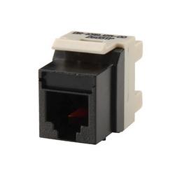 Sortie de degré 25 6-position, jack, RJ180 Keystone, USOC câblage, icône compatible, noir. Paquet : 25.
